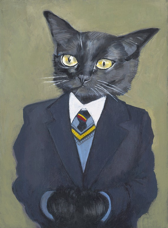 George -24 x 30 cm - Matte - From Painting by Heather Mattoon