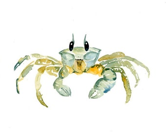 GHOST CRAB 7x5inch print-Art Print-animal Watercolor Print-Giclee Print