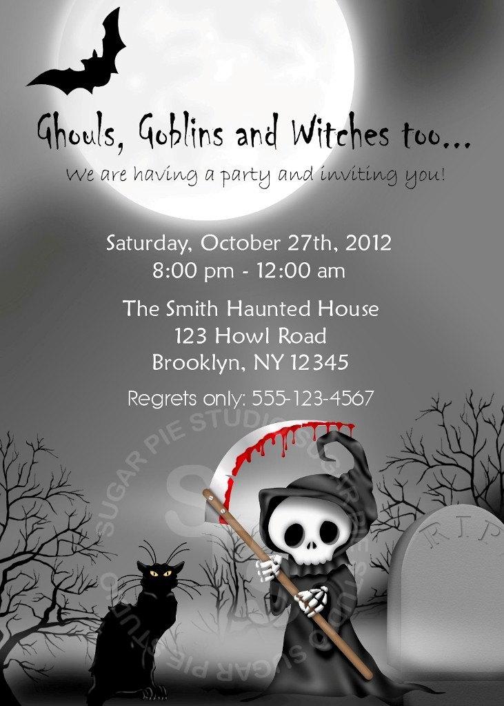 Halloween Party Invitations Ideas Printable Halloween Bi...