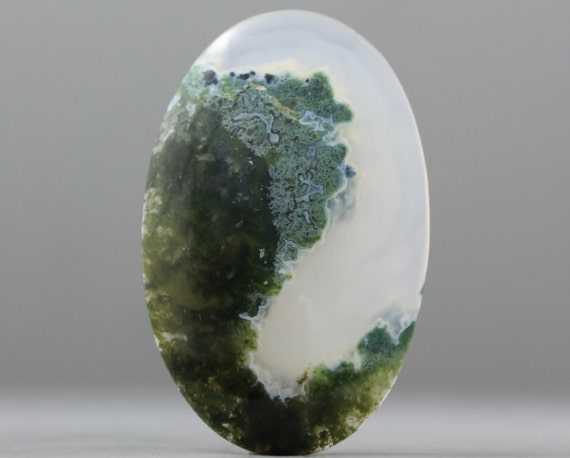 Extra Large Moss Agate Natural Gemstone - 50mm (C1225)