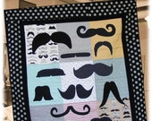 Mustache Love Quilt Pattern - Hard Copy