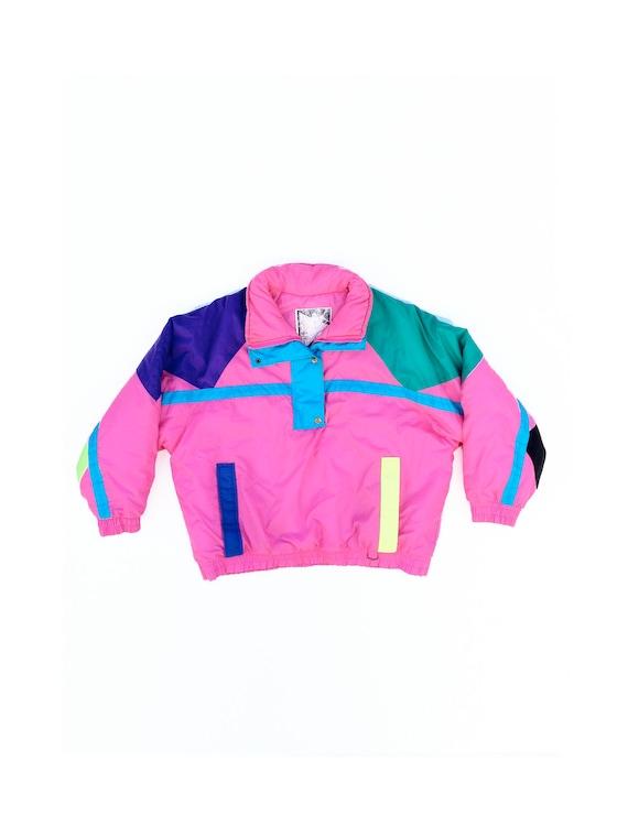 90s Multi-Color Neon Winter Jacket - M L