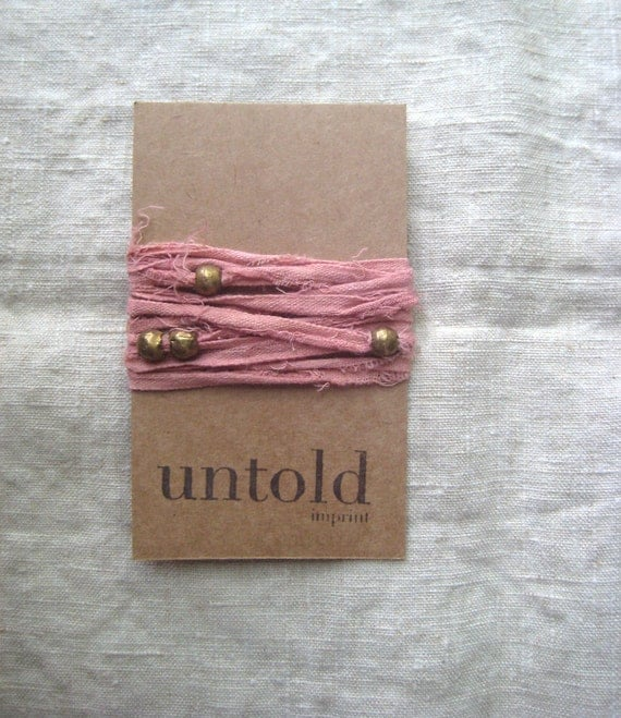 Terracotta Cotton Wrist Wrap