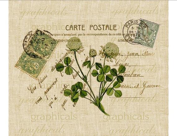 Instant digital download image Vintage Paris Carte Postale