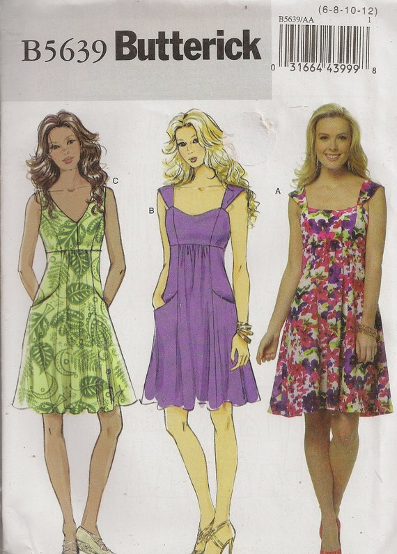 Butterick B5639, Misses' Dress, Size 6 to 12