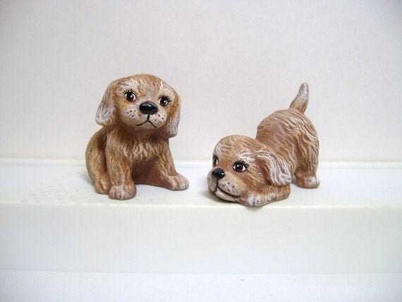 dogs, puppies, ceramic puppies, miniature playful puppies