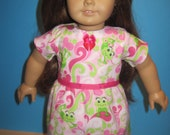 Darling Frogs Summer Dress For American Girl Doll and Most Other 18 Inch Soft Bodied Doll