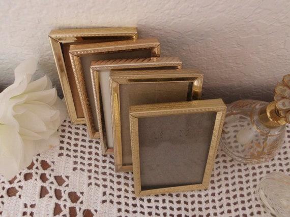 Vintage Gold Metal Frame Collection Set 2.25 X 3.25 Wedding