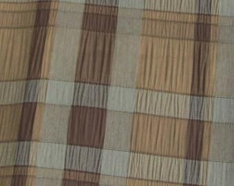 "Handmade Custom Gold, Brown and Light Blue Throw Pillow Cover, 16.5"" x 17"""