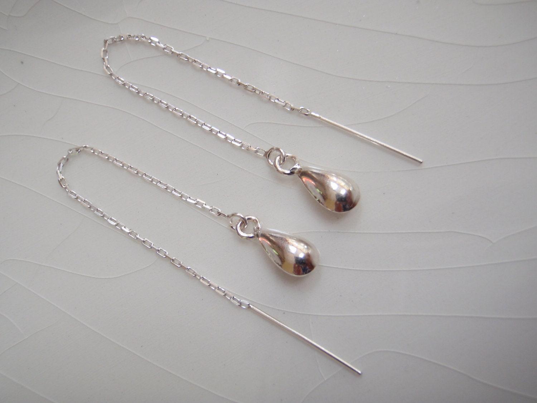 Thread Earrings: Sterling Silver 🔎zoom
