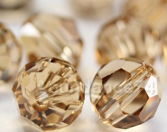 Swarovski Elements Crystal Beads 5000 Round Ball Beads LIGHT COLORADO TOPAZ - Available in 4mm ,6mm ,8mm and 10mm