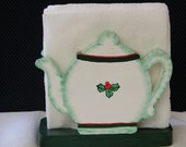 Christmas Teapot Napkin Holder