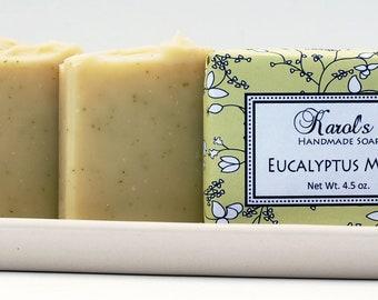 Handmade Soap - EUCALYPTUS MINT SOAP, Vegan Soap, Best-Selling Soap