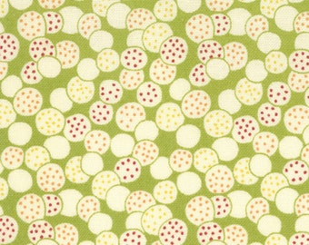 30s Retro Punctuation Fabric Collection by American Jane - Dots on Lime 21407-11 - 1 Yard