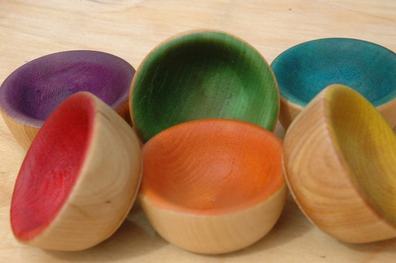 Counting Sorting Bowls Montessori Wooden Sensory Toy
