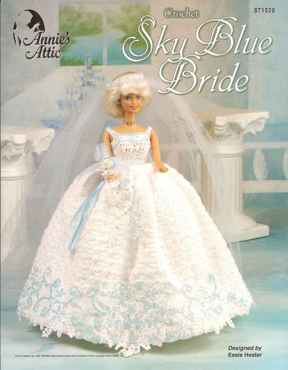 Crochet barbie doll wedding gown pattern for Crochet wedding dress pattern