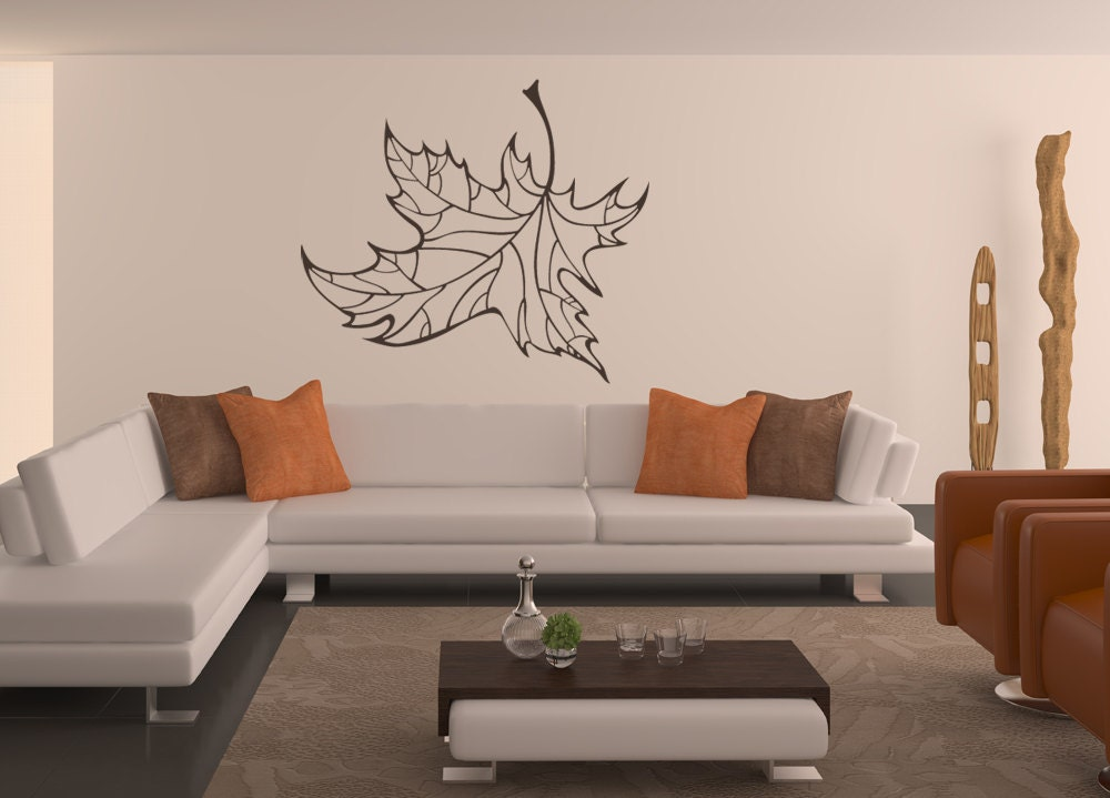 Wall Art Of Leaves : Maple leaf decal decor leaves by vinylwalladornments