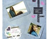 12x12 Premade Scrapbook Page - Denim, Teen Girl, etc...