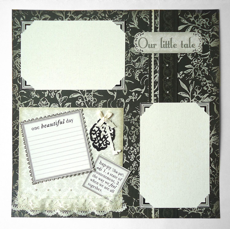 12x12 Premade Scrapbook Page Wedding Anniversary Love