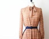 Vintage Dress Japanese Dress 70s Dress Retro Secretary Fall Dress