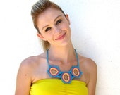 crochet necklace kawaii neon collar
