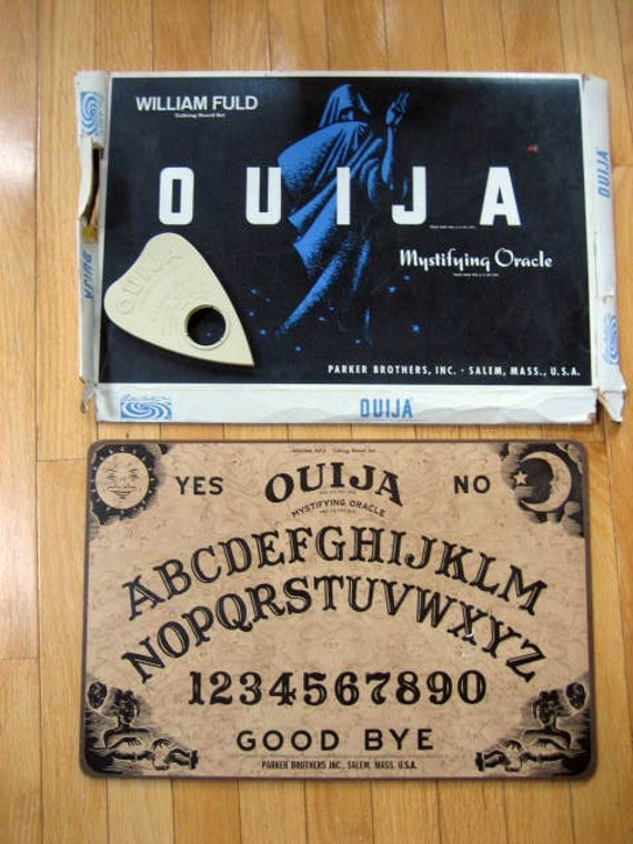 Fuld Ouija Board 1960s Original Box & Planchette Parker Brothers Mystifying Oracle