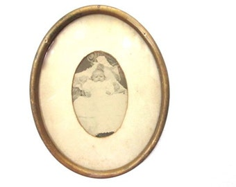 Victorian Baby Portrait Oval Frame Art Infant Picture Nursery Room Decor Photography