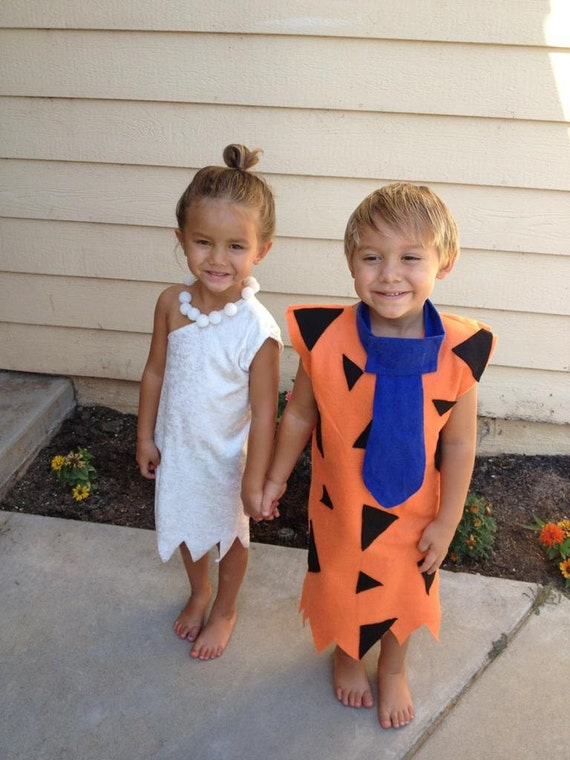 Fred and Wilma costume 2 costumes 12 months to 4t twins or siblings