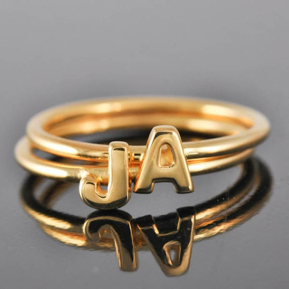 Initial Ring Personalized Gift Bridesmaid Gift Bridal