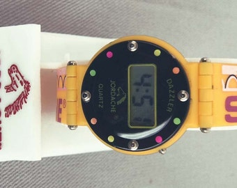 Vintage Jordache Studio Dazzler Quartz Digital  Watch 1 FREE SHIPPING