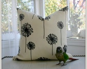 Pair (2) of Dandelion Pillow Covers / Choose size and color