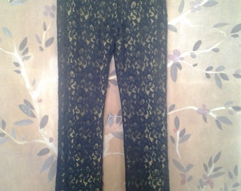 80s black lace pants / trousers