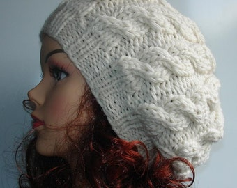 Popular items for cable hat on Etsy