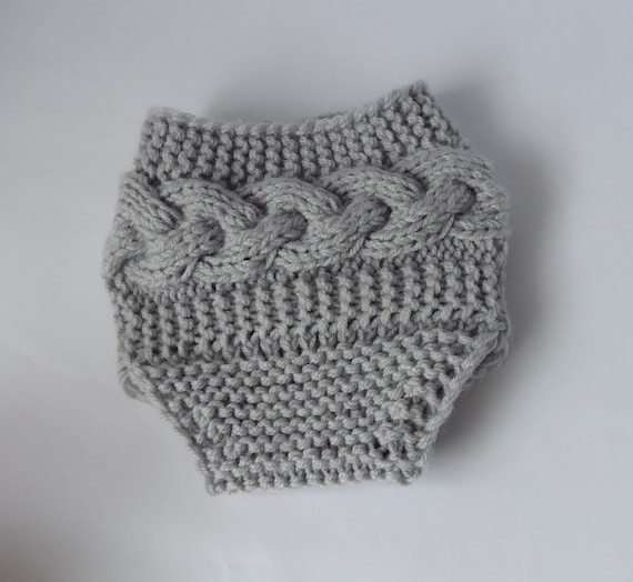 Baby Knit Cable Diaper Cover / Girl Diaper Cover / by Ifonka