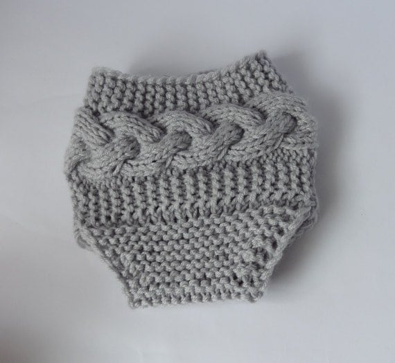 Knitting Patterns For Baby Diaper Covers : Baby Knit Cable Diaper Cover / Girl Diaper Cover / by Ifonka