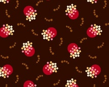 Modern Pomegranate on Brown From Marcus Fabrics