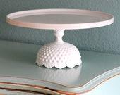 "14"" Cake Stand / Wedding Cake Stand Pedestal / White Ceramic Cake Stand / Cake Dish Cake Plate Cake Platter / Milk Glass Cake Stand - TheRocheStudio"