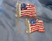 American Flag Sequin Applique