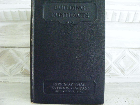 Building Contracts  architectural book 1907
