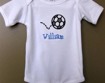 Soccer Applique Shirt, Soccer Shirt, Boys Shirts, Personalized Shirts