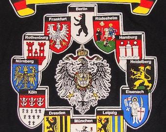 Vintage 90s Germany Black T Shirt