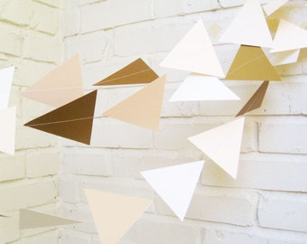The Geo Garland, Paper Garland, Gold, Cream, Blush, Wedding Decoration, Wedding Garland, Wedding Shower Decoraiton