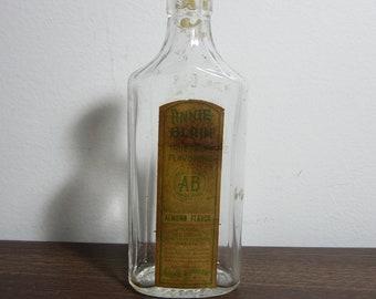 Antique Glass Almond Flavor Bottle