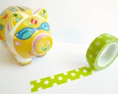 Washi Tape: Green Dots