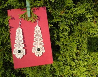 Lacy Feather Earrings