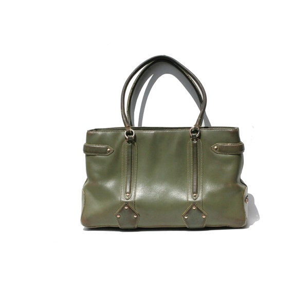 Cole Haan Moss Green Leather Tote bag