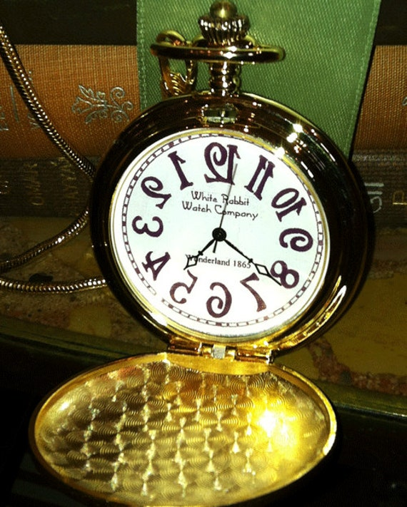 Backwards Pocket Watch Alice In Wonderland Runs Backwards