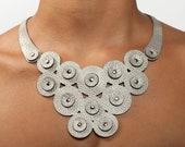 Bib Necklace - Silver