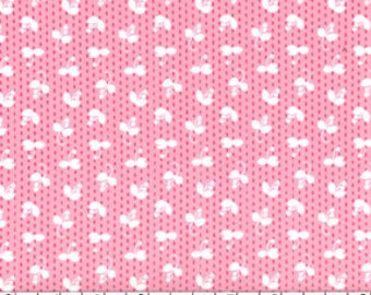 SALE Madrona Road fabric for quilt or craft Violet Craft for Michael Miller Sprout in Pink Half Yard
