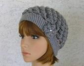 Crochet Womens Teens Spiral Cloche Soft Hat